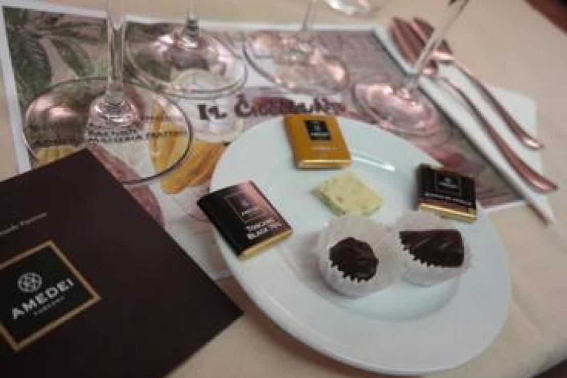 Il cioccolato di Amedei ed i vini del mondo