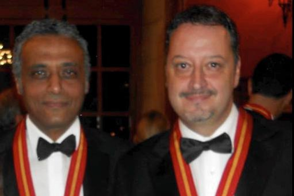 Due nuovi membri della Confrérie des Chevaliers du Tastevin in casa Ais