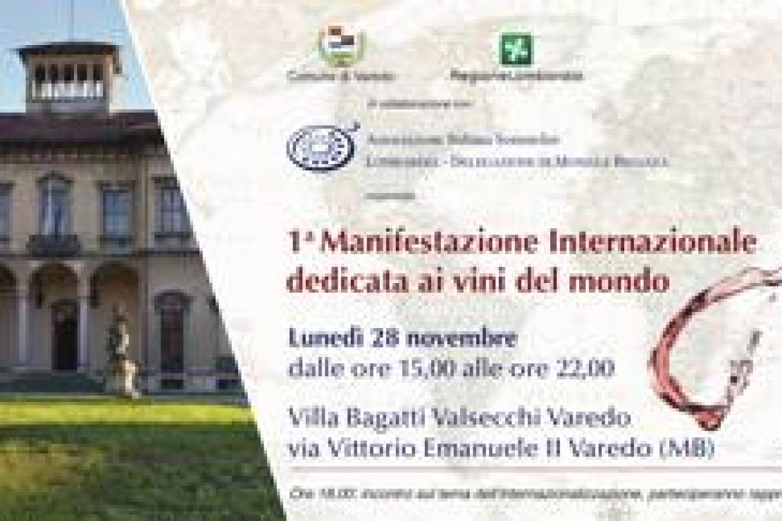Ais Monza | Vini del mondo, un grande banco di assaggio a Villa Bagatti Valsecchi