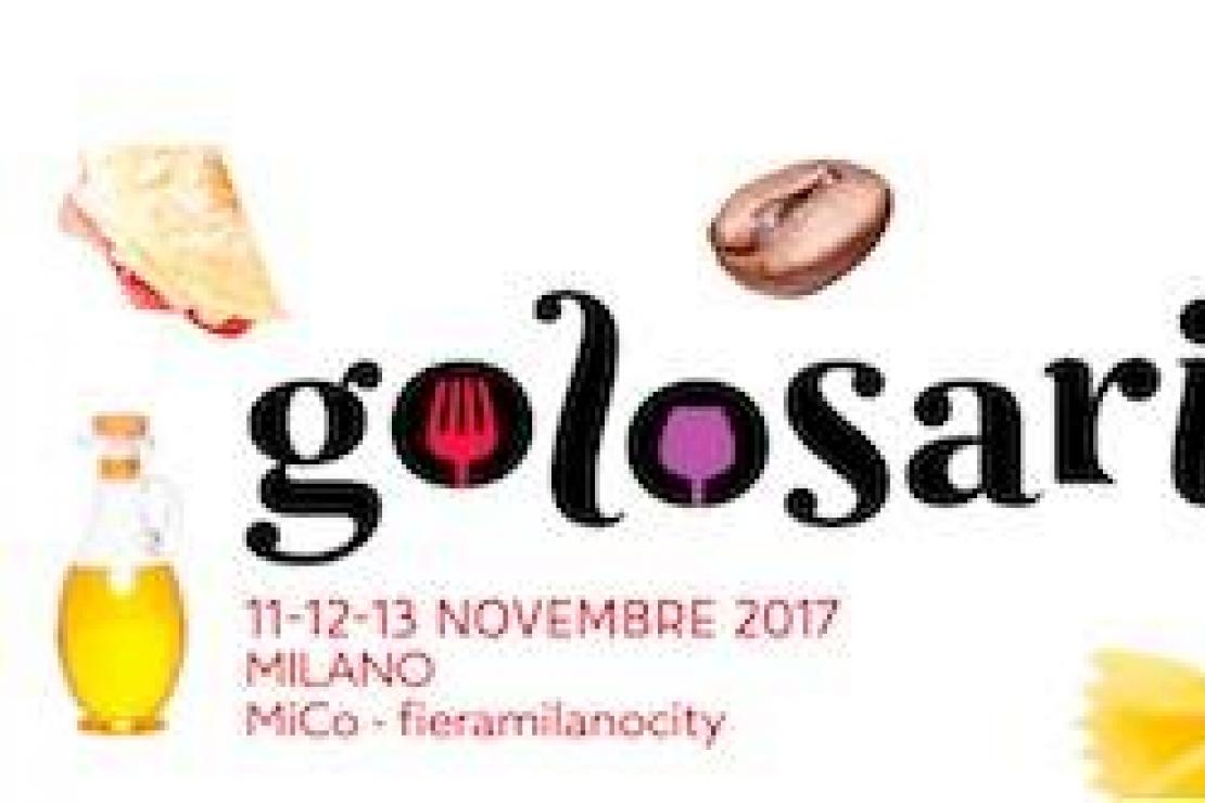 Golosaria 2017. A Milano dall'11 al 13 novembre la 12° edizione