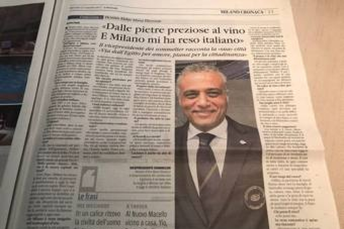 Dalle pietre preziose al vino...L'intervista al Delegato AIS di Milano sul Il Giornale