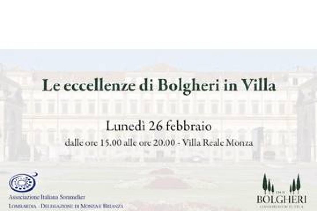 AIS Monza | Eccellenze di Bolgheri a Villa Reale