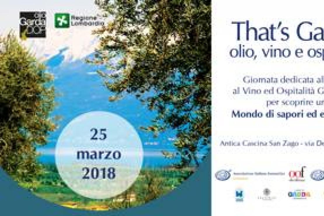 That's Garda! Prima edizione domenica 25 marzo a Salò