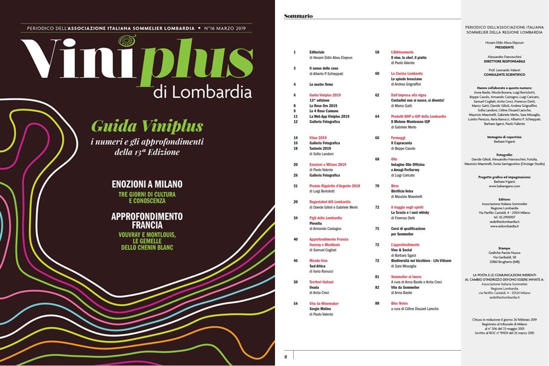 Viniplus di Lombardia - N°16  Marzo 2019