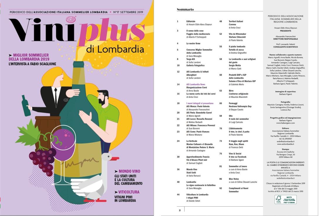 Viniplus di Lombardia - N°17 Settembre 2019
