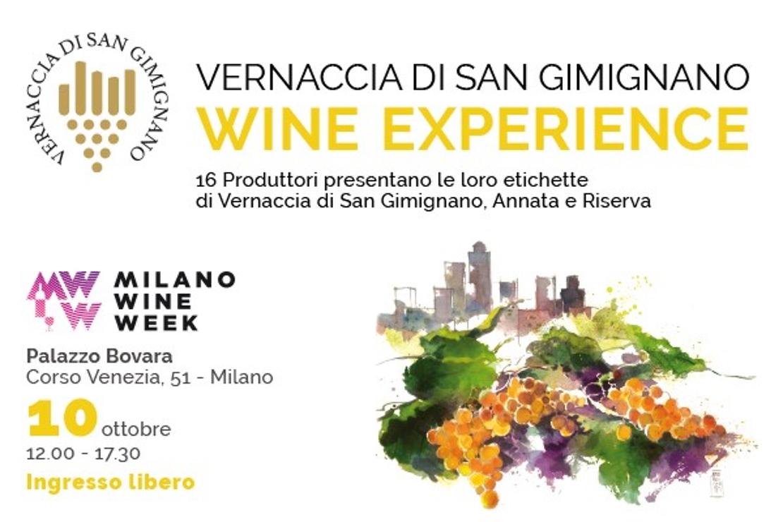 La Vernaccia di San Gimignano protagonista alla Milano Wine Week