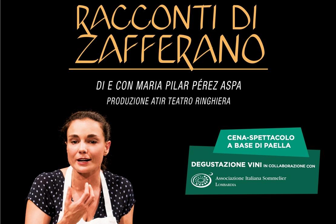 """""""Racconti di zafferano"""". Al Teatro Manzoni cena-spettacolo in collaborazione con AIS Lombardia"""