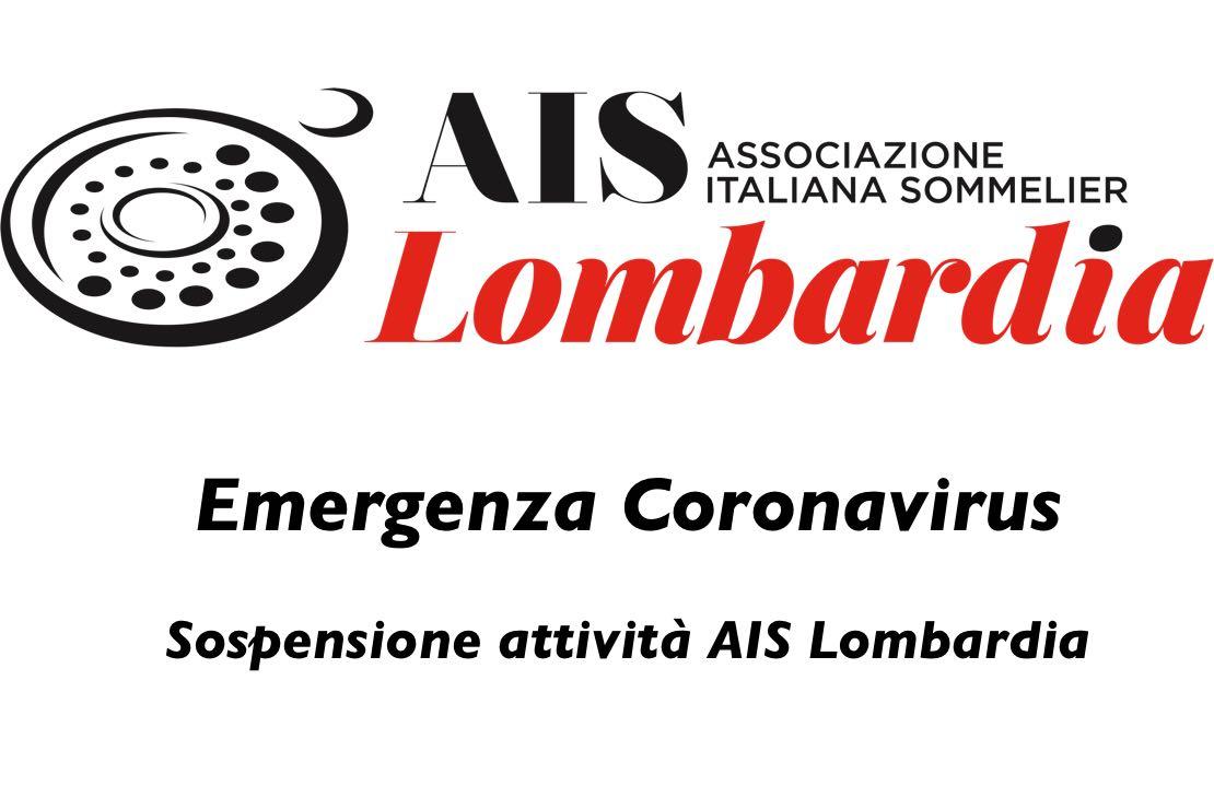 Emergenza Coronavirus. Sospensione attività AIS Lombardia