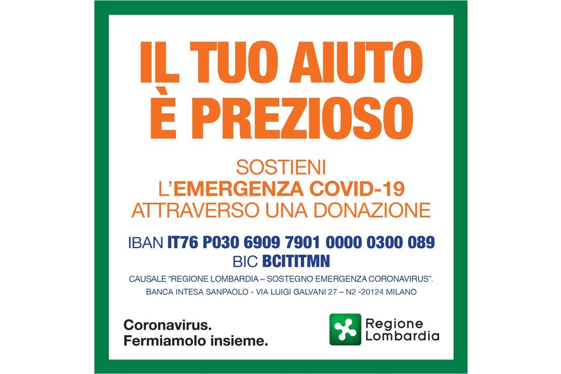 Emergenza Coronavirus, aiutiamo la Lombardia