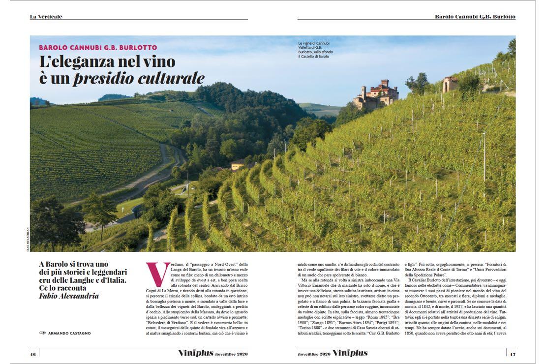 Barolo Cannubi G.B. Burlotto. L'eleganza nel vino è un presidio culturale