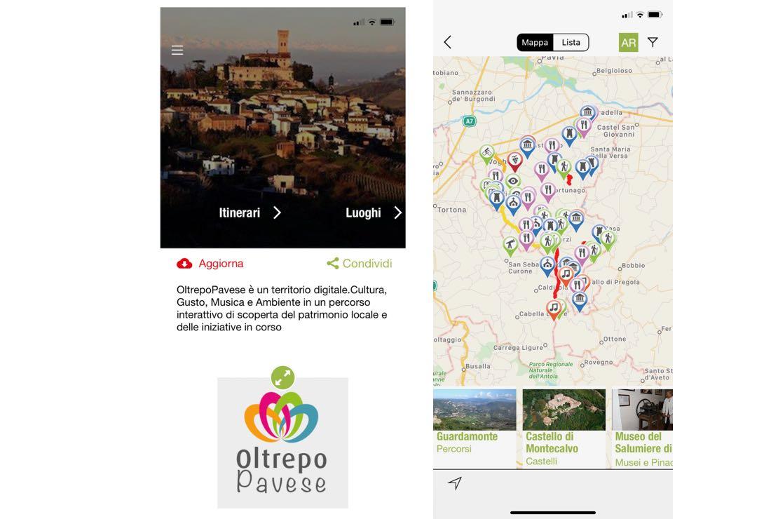 Ecco l'app per conoscere la ricchezza enogastronomica dell'Oltrepò Pavese