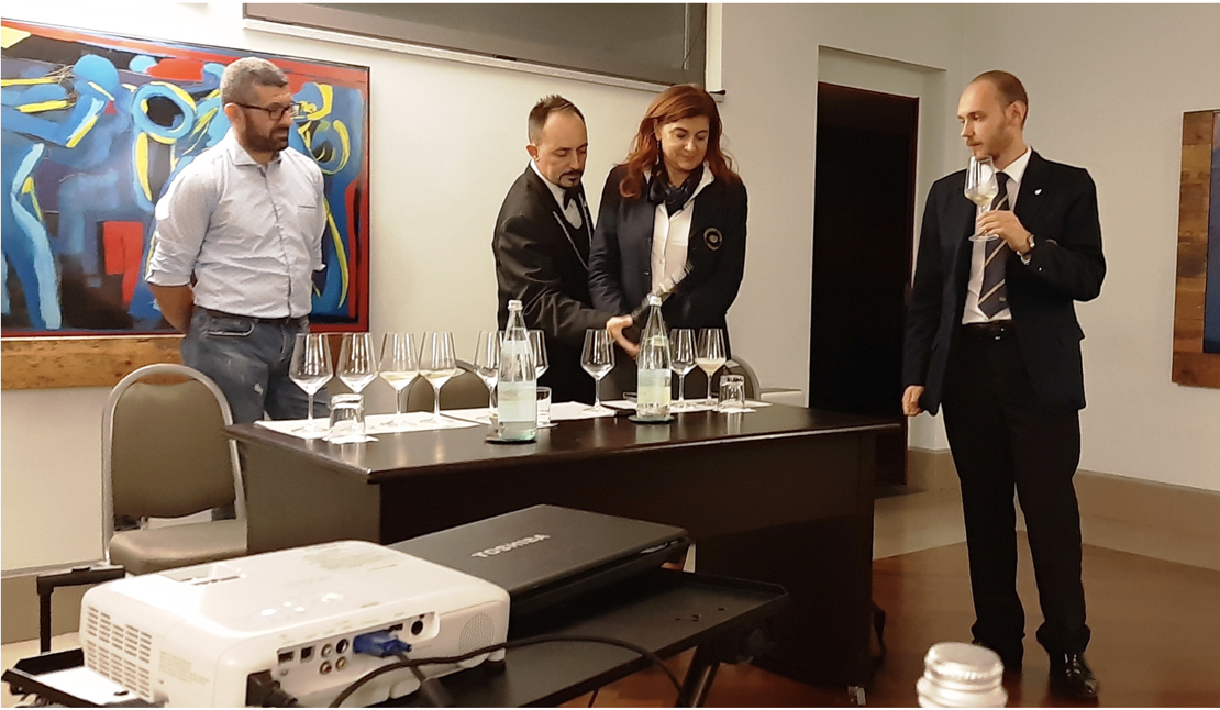 Da sinistra: Tiziano Bruschi, Alberto Orlandi e il Delegato Roberta Agnelli, Stefano Berzi