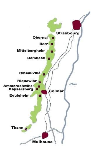 Alsazia - Mappa