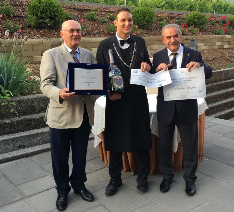 Andrea Montini Miglior Sommelier Lombardia 2016