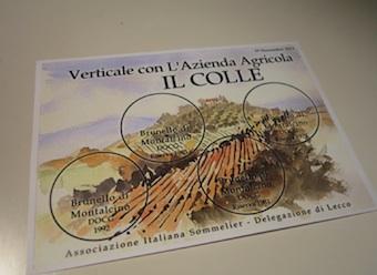Verticale Brunello di Montalcino Il Colle - Ais Lecco