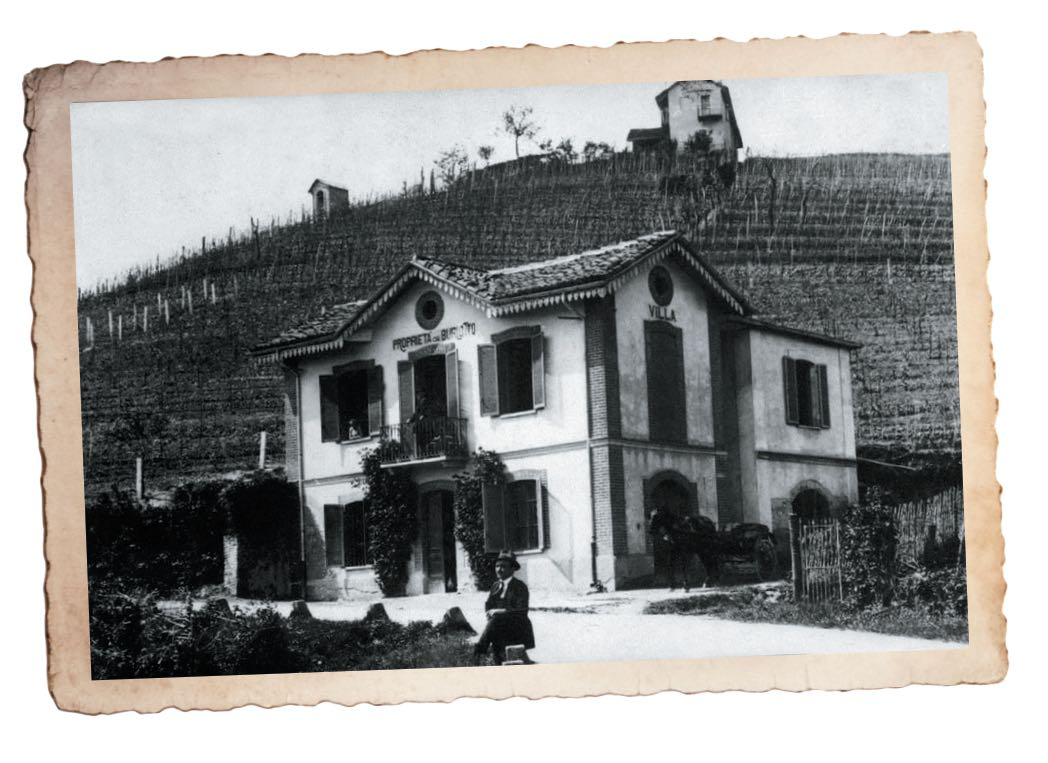 Foto di inizio '900 ai Cannubi