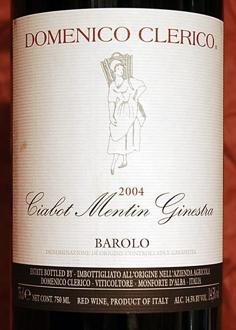 Barolo Ciabot Mentin Ginestra 2004