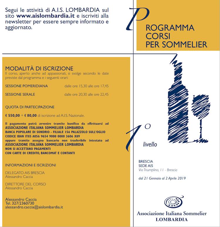 Corso 1 livello AIS Brescia 2019