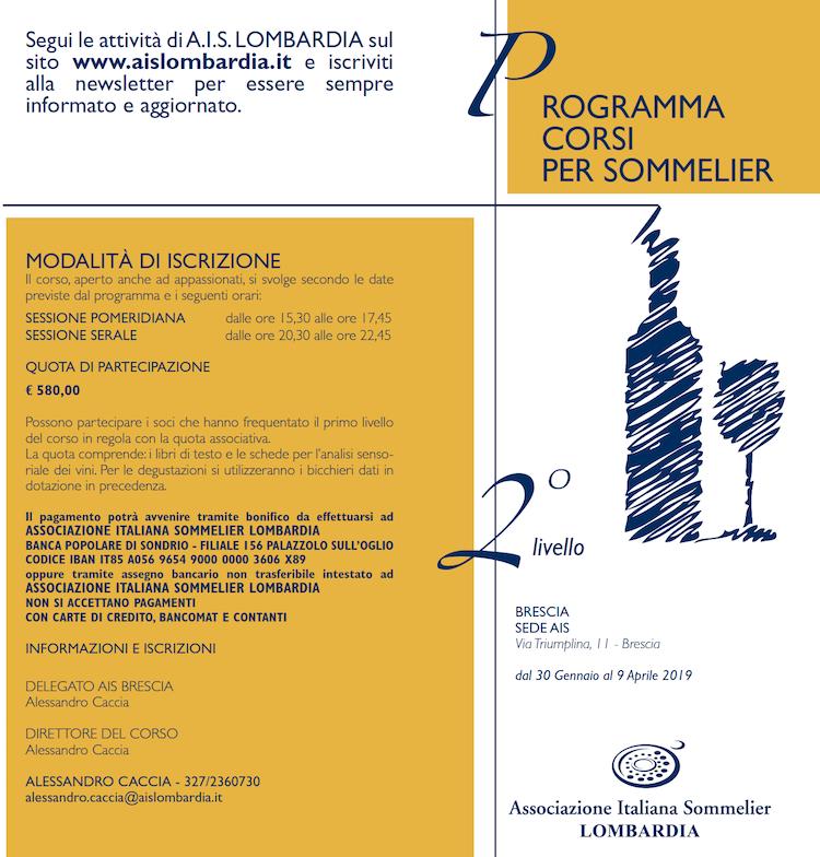 Corso 2 livello AIS Brescia 2019