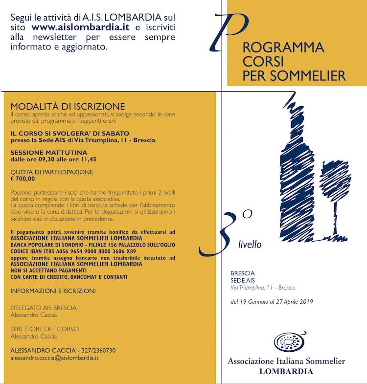Corso 3 livello AIS Brescia 2019 - Solo Sabati