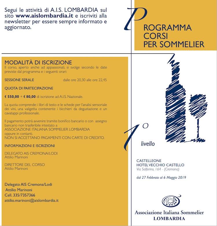 Corso 1 livello AIS Cremona-Lodi 2019