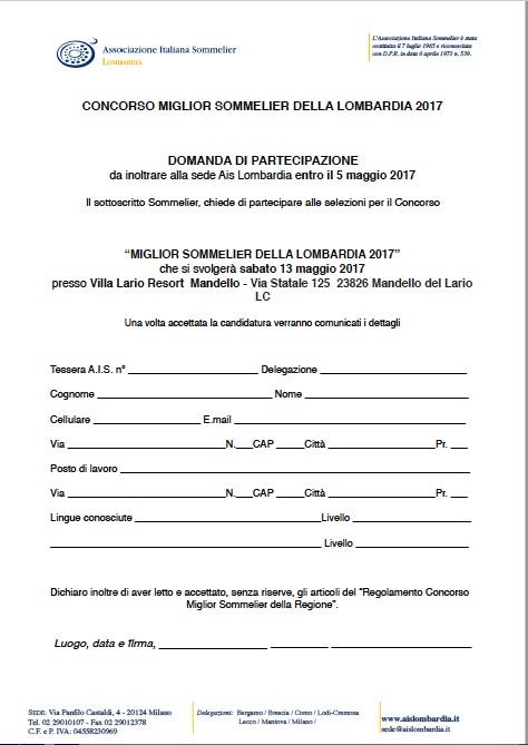 DomandaIscrizioneConcorsoRegionale2017