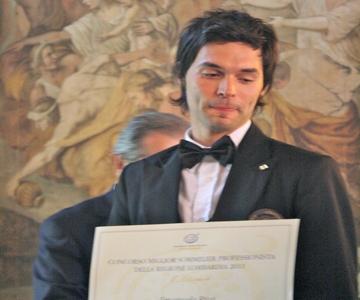 Emanuele Riva - Miglior Sommelier di Lombardia 2011