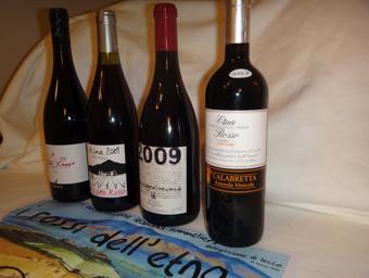 I vini della serata Ais Lecco dedicata all'Etna