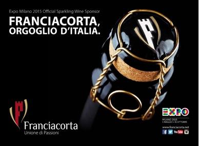 Franciacorta Expo Milano 2015 Official Sparkling Wine Sponsor
