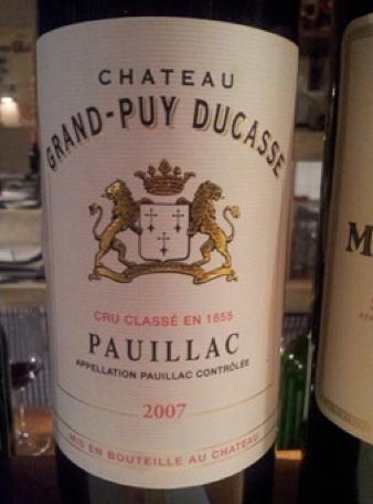 Chateau Grand Puy Ducasse 2007 Pauillac  5éme Cru Classé