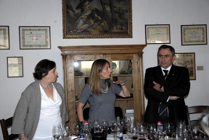Luigi Bortolotti con Valeria Viganò e Emilia D'Orsi