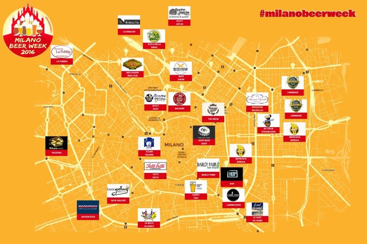 MilanoBeerWeek2016 | Mappa Licali