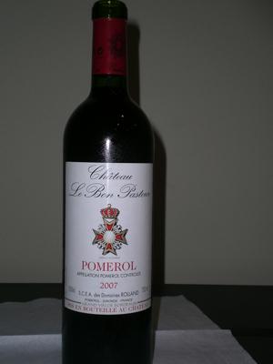 Chateau Le Bon Pateur 2007 - Pomerol