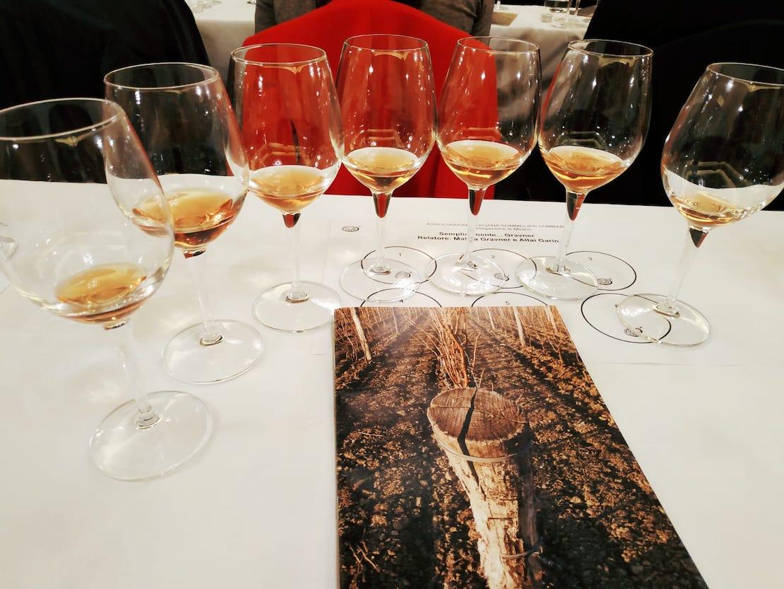 Le degustazione dei vini di Josko Gravner