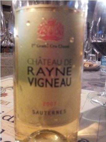 Chateau de Rayne Vigneau 2007 Sauternes 1er grand Cru Classé