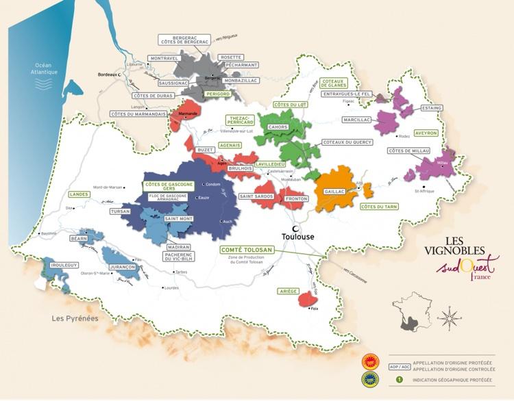 Vini Sud-Ovest Francia