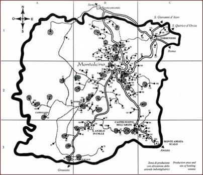 Mappa Territorio Montalcino