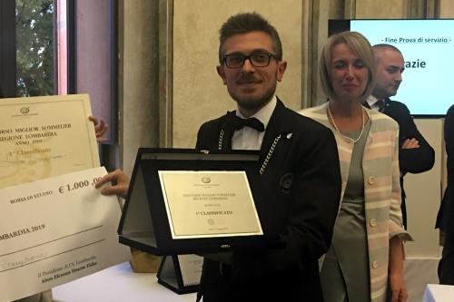 Fabio Scaglione, miglior Sommelier della Lombardia 2019