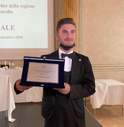 Andrea Gualdoni, miglior Sommelier della Lombardia 2020