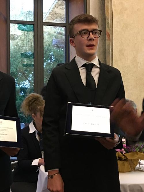 Federico Berni, vincitore concorso targa ais 2019